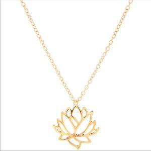Lotus flower Boho Charm Necklace